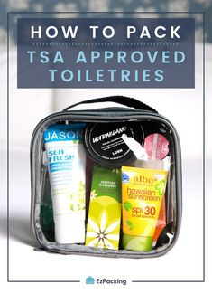 TSA Guidelines Packing TSA liquids in carry on is tricky but it doesn't have to be with the right air travel hacks. Use a quart size clear packing cube for all carry on toiletries. This guaranteed TSA approved toiletries trick will surely give you a hassl Carry On Packing, Packing Tips For Vacation, Packing Cubes, Travel Packing, Vacation Travel, Cruise Travel, Travel Deals, Packing Hacks, Passport Travel