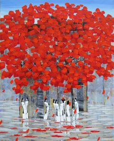 Summer street after rain 2 (2016) Acrylic painting by Xuan Khanh Nguyen  | Artfinder