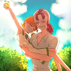 Nami & Bellemere - One Piece Anime One Piece, One Piece Nami, Fanart Manga, Manga Anime, Nami Swan, Luffy X Nami, Zoro, Anime Triste, One Piece Drawing