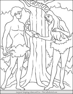 Adam and Eve Coloring Pages Printable. Are you looking for Adam and Eve coloring pages? Here you will find a number of coloring pictures of biblical stories or