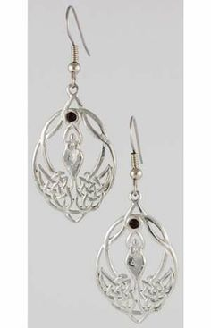 Celtic Knot Goddess W Crystal (JER21) - by AzureGreen. $13.50. Shown here, accented by twin Celtic knots woven intricately by her feet, is the age old image of the goddess. Framed within the oval design of these earrings she stands as a symbol of fertility and motherhood, representing all of the power and grace that comes from these qualities. With her hands reaching upwards she clasps a small red stone-representative of her power and mystery-holding it aloft for a...
