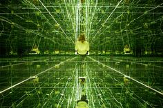 Swing to Infinity Inside Thilo Frank's Mirrored Room