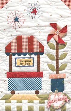 Summer Fun BOM - Block of the Month - Quilt Company - Applique - Shabby Fabrics