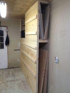multipurpose storage. french cleat rack system and scrap wood storage #Shopstorage #WoodWorkingTools