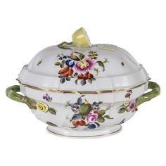 Exquisite and Fine Porcelain Tureen by Herend | From a unique collection of antique and modern tureens at https://www.1stdibs.com/furniture/dining-entertaining/tureens/