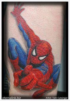 Done by Tom Cutsinger at Eternal Tattoo in Columbus NE Spiderman Tattoo, Palm Tattoos, Skin Art, Body Piercing, Tattoo Inspiration, Tattoos For Guys, Tatting, Body Art, Tattoo Ideas