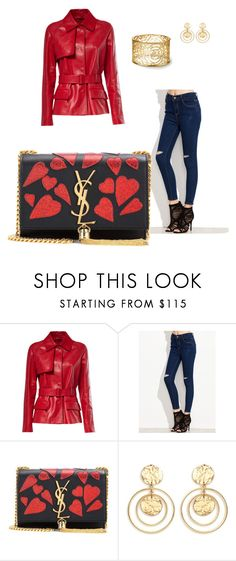 """""""Untitled #1"""" by erna11 ❤ liked on Polyvore featuring Yves Saint Laurent and Kenneth Jay Lane"""