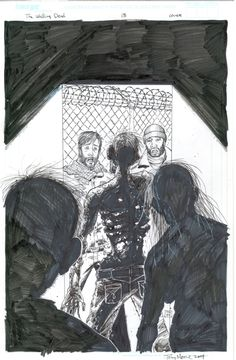 Tony Moore - The Walking Dead - #13 - Cover Comic Art