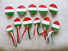 New Year's Crafts, Crafts For Kids, Arts And Crafts, Hungarian Flag, Pakistan Day, Nursery School, Republic Day, Independence Day, Art For Kids