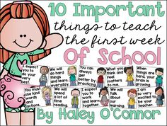 My Silly Firsties: The 10 Most Important Things To Teach During the First Week of School Classroom Routines, Classroom Rules, Classroom Posters, Classroom Ideas, Classroom Tools, Classroom Organisation, Classroom Displays, Future Classroom, Organization Ideas
