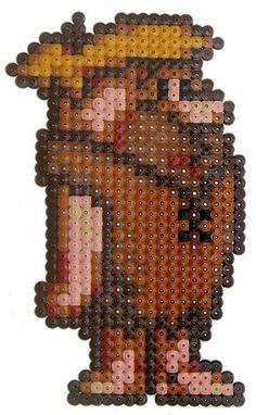 Barney Rubble hama perler beads by pixgraff