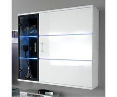 Meuble mural blanc - Meuble design #meublemural Bathroom Medicine Cabinet, Bathroom, Cabinet