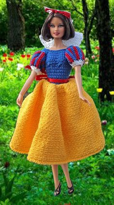 Free Crochet Pattern For Snow White Dress : 1000+ images about crochet-disney doll on Pinterest ...