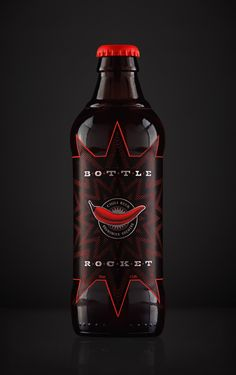 Bottle Rocket Chili Infused Beer (Student Project) on Packaging of the World - Creative Package Design Gallery