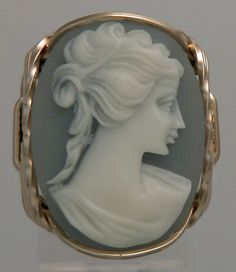 Wire Wrapped Cameo.