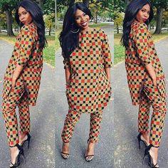 #ensemble #africanprint #summer