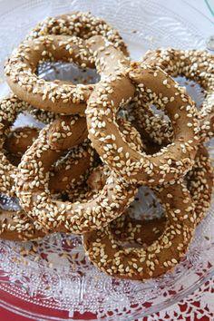koulourakia me petimezi Peanut Butter Cookies, Greek Recipes, Biscotti, Scones, Natural, Doughnuts, Appetizers, Cooking, Desserts