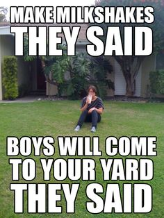 My milkshake brings all the boys to the yard. lol haha this reminded me of you Funny Quotes, Funny Memes, Quotes Pics, Clever Quotes, Sarcastic Quotes, Memes Humor, Motivational Quotes, Youre My Person, Funny Captions