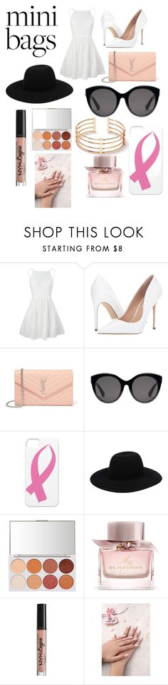 """""""#Minibags"""" by floralxcutiie ❤ liked on Polyvore featuring Steve Madden, Yves Saint Laurent, Gucci, Burberry, NYX, Static Nails, dressy, contest, Heels and like4like"""