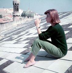 Anouk Aimée in Venice, 1955
