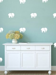 Set of 50 Elephant Wall Stickers Wall Pattern by AdnilCreations