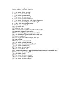 Getting To Know You Questions For Ice Breaker Car Ride Random