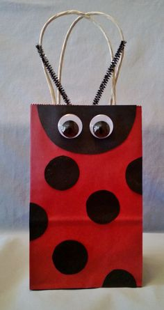 Lady Bug Party Favor Bag (Set of Perfect for any lady bug birthday or whimsical themed birthday parties or to just purchase for gift giving for someone special! 4th Birthday Parties, Girl Birthday, Birthday Ideas, Miraculous Ladybug Party, Ladybug 1st Birthdays, Black Ladybug, Party Favor Bags, Favor Boxes, Wrapping Ideas
