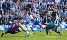 Brighton 1 Sheffield Wednesday 1: James Wilson sees his shot saved by Wednesday keeper Kieren Westwood in the second leg of the Championship play-off semi-final