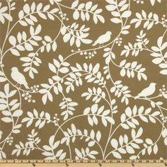 Dwell Studio Indoor/Outdoor New Botany Taupe from @fabricdotcom  Designed by Dwell Studio, this great indoor/outdoor fabric is stain and water resistant, perfect for outdoor settings and indoors in sunny rooms as it is fade resistant to 500 hours of direct sun exposure. To maintain the life of the fabric bring indoors when not in use. Create decorative pillows, chair pads, table accents, cushions, deck chairs, slipcovers and upholstery. Colors include ivory on a taupe background.