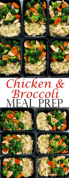 Chicken and Broccoli Stir Fry Meal Prep. An easy meal that can be made ahead of time for your weekly meal prep.