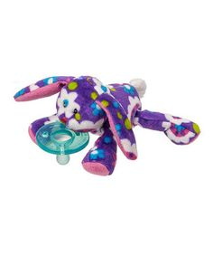 This Purple Gardenia WubbaNub Bunny Pacifier by Mary Meyer is perfect! #zulilyfinds