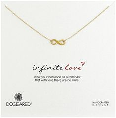 Dogeared Reminders Infinity Gold Charm Necklace 18 * Read more reviews of the product by visiting the link on the image.Note:It is affiliate link to Amazon.