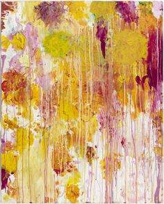 """""""Untitled"""", 2001 // Cy Twombly (American, 1928–2011) // #art #painting #abstract"""