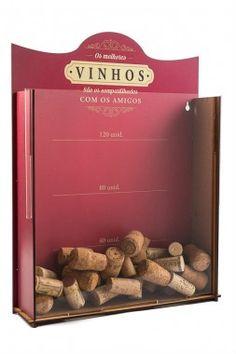 Quadro porta rolhas de garrafas de vinhos - 120 rolhas - Os melhores vinhos