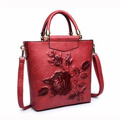 Elegant National Style Flower Pattern Shoulder Bags Crossbody Bags For Women