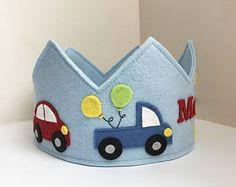 This item is unavailable Car Birthday Crown, Wool Felt Crown, Transportation Crown, Party Hat Fabric Crown, Transportation Birthday, Crown For Kids, Felt Kids, Boy Birthday Parties, Car Birthday, Birthday Crowns, Felt Crown, Felt Headband