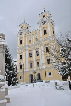 Mondsee Cathedral in Mondsee, Austria - about 20 minutes outside of Salzburg, this cathedral is famous for being the wedding church in The Sound of Music