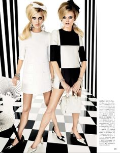 Vogue Japan - Hanne Gaby Odiele and Juliana Schurig by Giampaolo Sgura, 2013