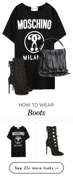 """""""Untitled #9334"""" by alexsrogers on Polyvore featuring Moschino, Alaïa and H&M"""