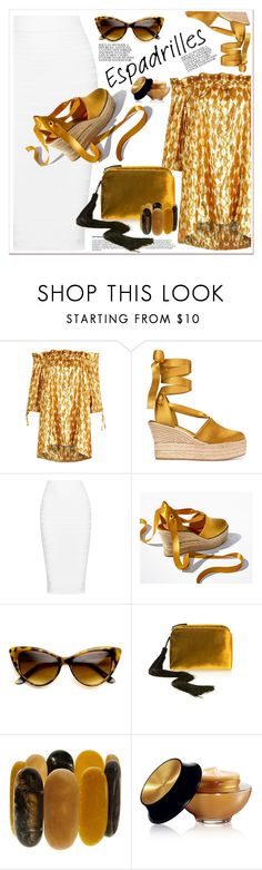 """""""Step into Summer: Espadrilles Top Fashion Sets for Jul 8th, 2017"""" by spenderellastyle ❤ liked on Polyvore featuring Tory Burch, Cushnie Et Ochs, The Row, John Lewis, Yves Saint Laurent and espadrilles"""