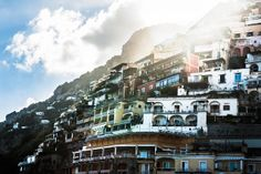 IES Abroad Photo of the Day: A Positano Neighborhood in the Amalfi Coast at Sunset www.studyabroadphoto.org #studyabroad #travel #amalficoast #italy