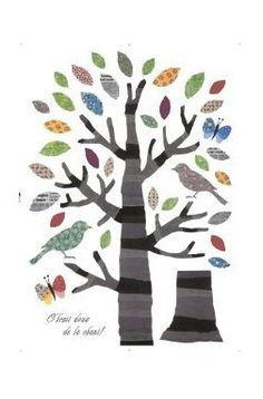 Colourful Enchanted Tree with Patchwork Leaves - Wall Stickers: Amazon.co.uk: Kitchen & Home