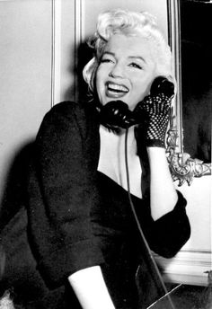 Marilyn during an interview at the Gladstone Hotel in New York, January 26th 1955.