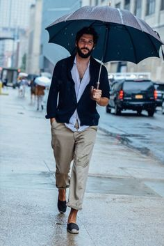 Navy Cardigan styled with Light Blue Shirt, Beige Chinos and a pair of Navy Espadrilles