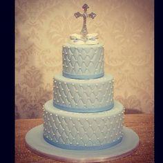Elegant Cross Cake Topper Covered in Swarovski Crystals.
