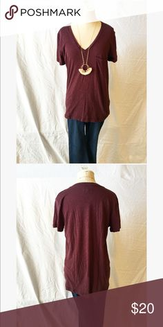 Madewell Pocket Tee Cotton, front pocket, v neck, never been worn Madewell Tops Tees - Short Sleeve