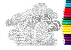 colouring page for pleasure or to relieve by KarenJJewellery
