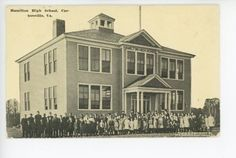 Hamilton-High-School-CARTERSVILLE-VA-Rare-Antique-WE-Burgess-PC-Cumberland-Co-11