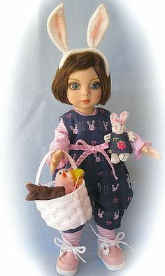 """EASTER BUNNY FUN FOR TONNER 10"""" PATSY, ANN ESTELLE & FRIENDS, BY SIS"""