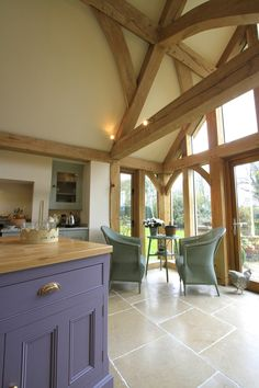 We are passionate about hand making bespoke Oak frame timber buildings, and have established an enviable reputation as one of the leading providers of beautiful Oak framed buildings in Leicester, Oakham and across the UK. Border Oak, Oak Framed Buildings, Extension Plans, Oak Frame House, Timber Kitchen, Snug Room, Self Build Houses, Colorful Interior Design, Conservatories